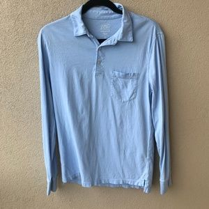 J. Crew Broken-In Long Sleeve Pocket Polo Shirt